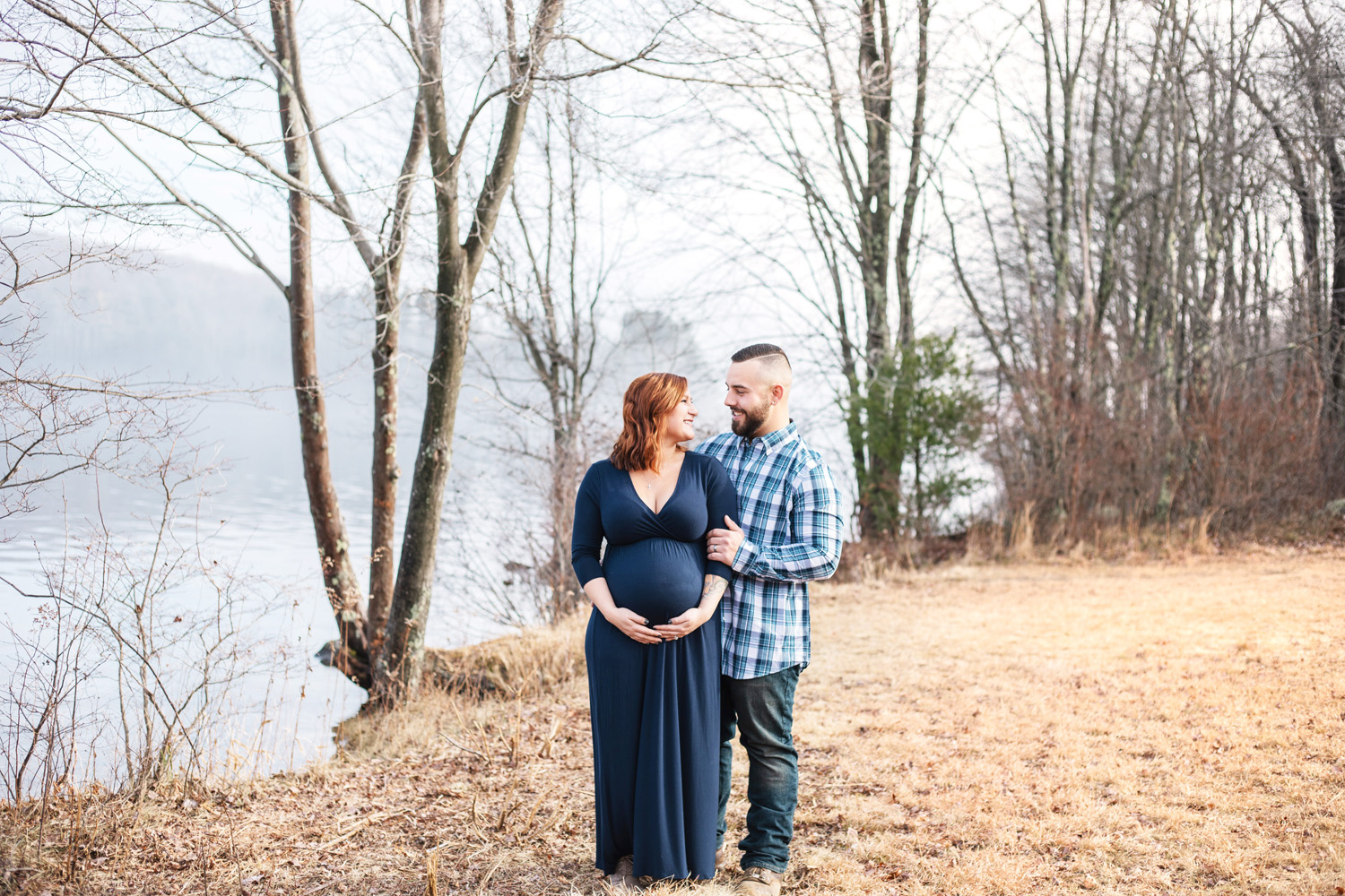 Maternity portraits at Quabbin Reservoir by Monika Normand Photography