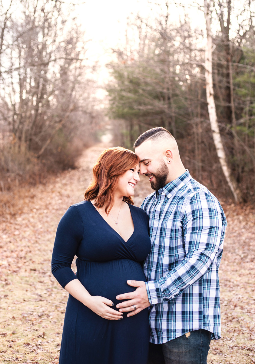 Maternity photos at Quabbin Reservoir by Monika Normand Photography