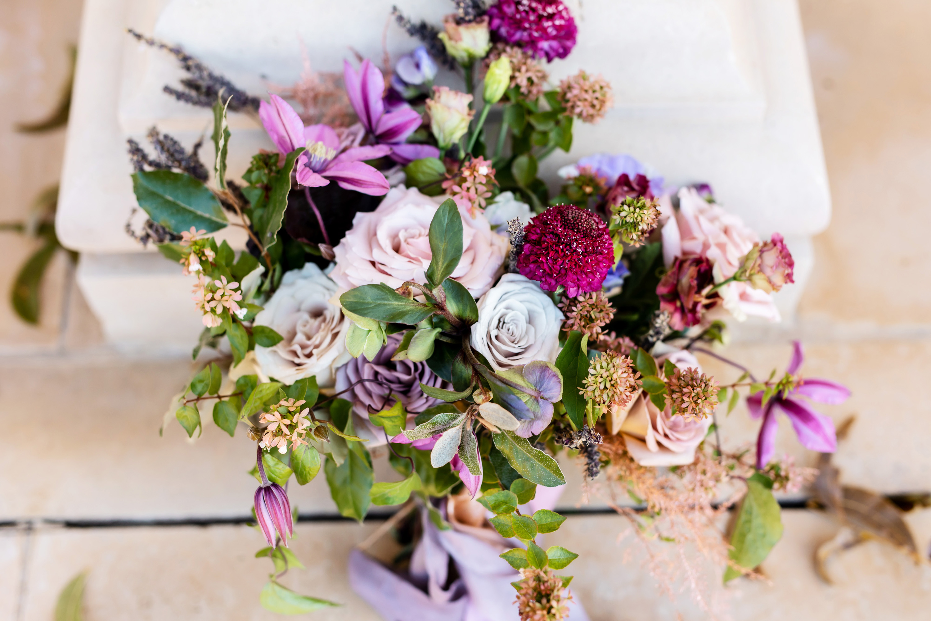 Dusty Purple Wedding Bouquet
