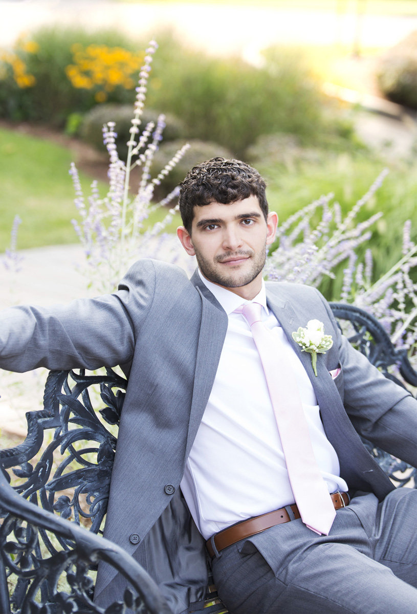 Groom portrait in Springfield by Monika Normand Photography