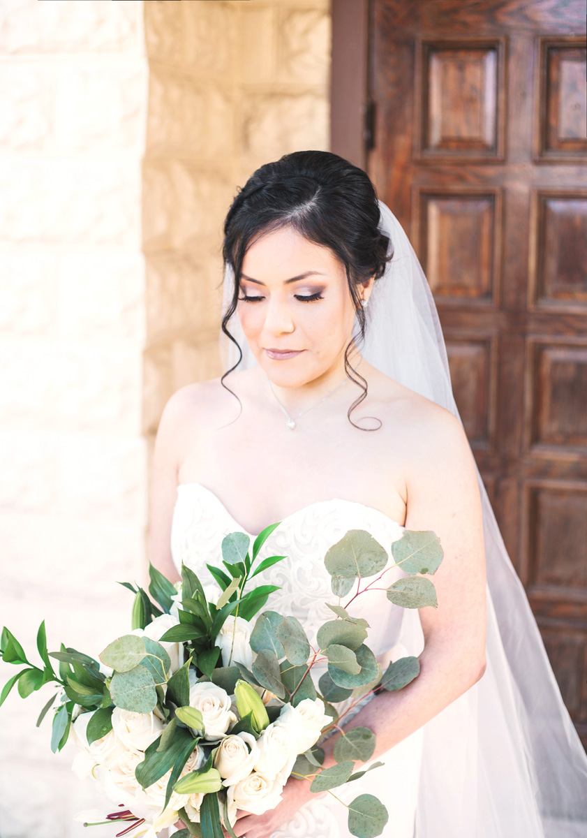 Austin Texas winter bridal portrait by Monika Normand Photography