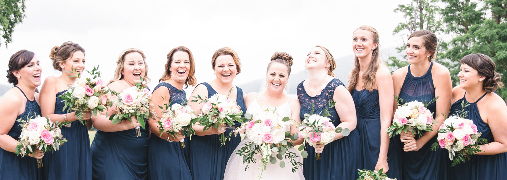 monika normand photography bridesmaids laughing