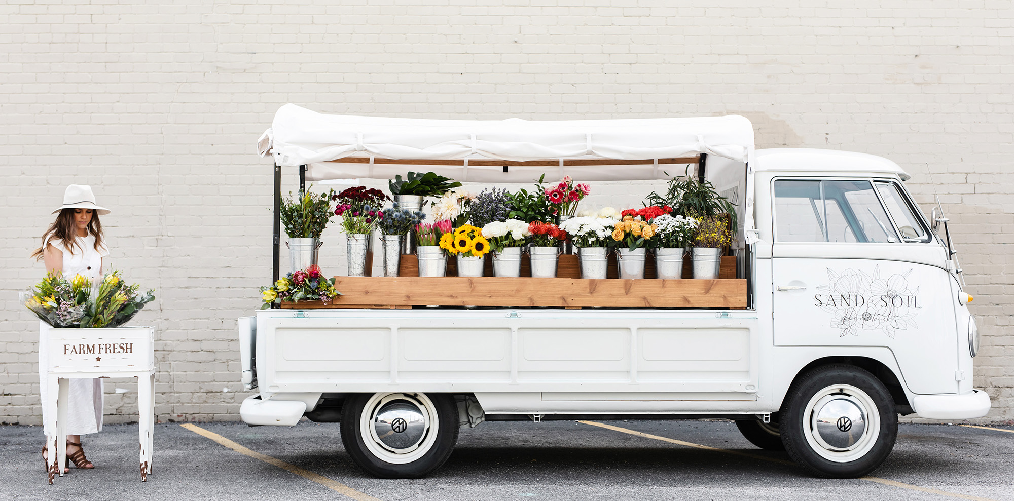 Sand and Soil Flower Truck by Monika Normand Photography