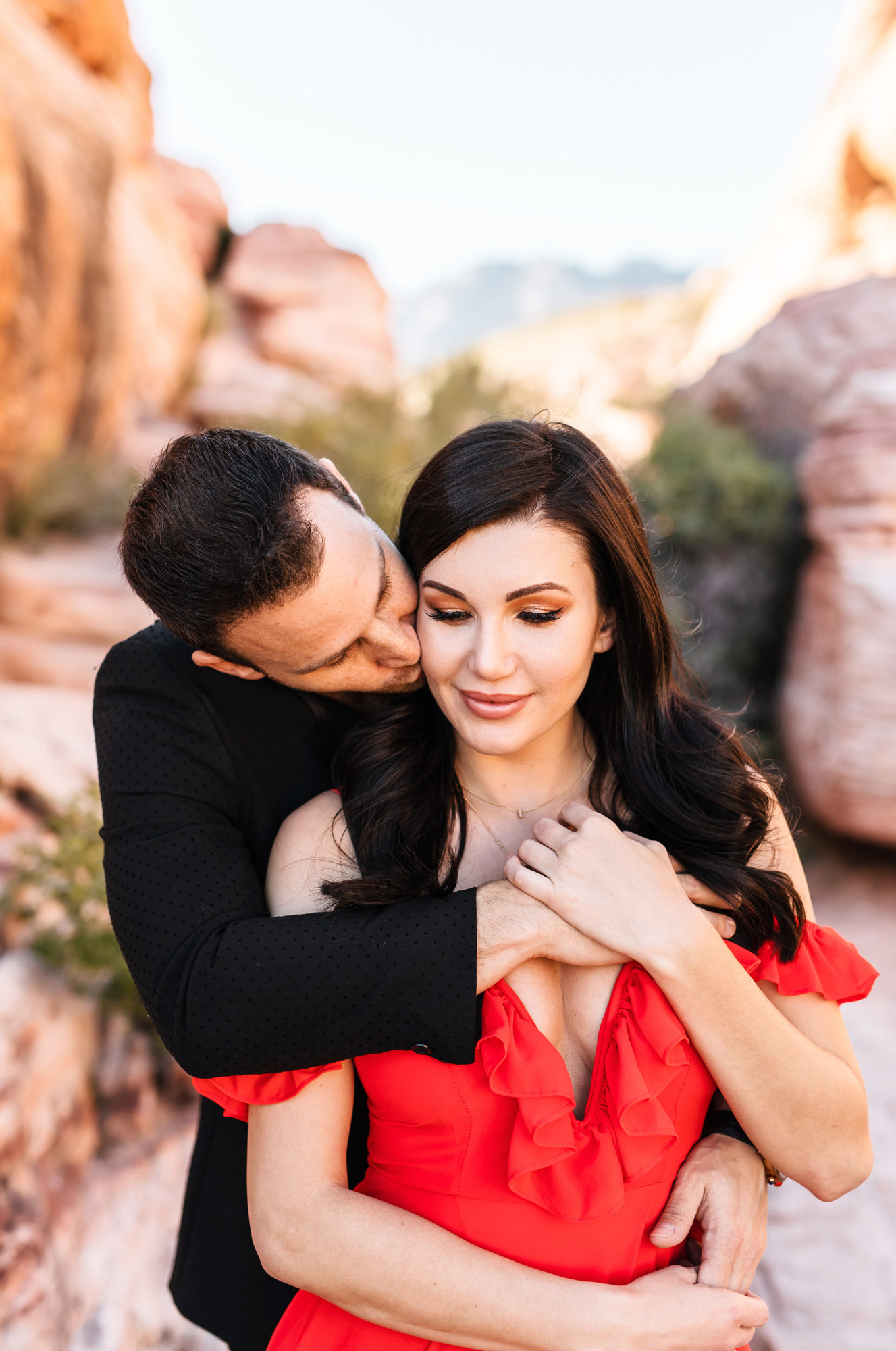 Red Rocks Las Vegas Engagement Monika Normand Photography