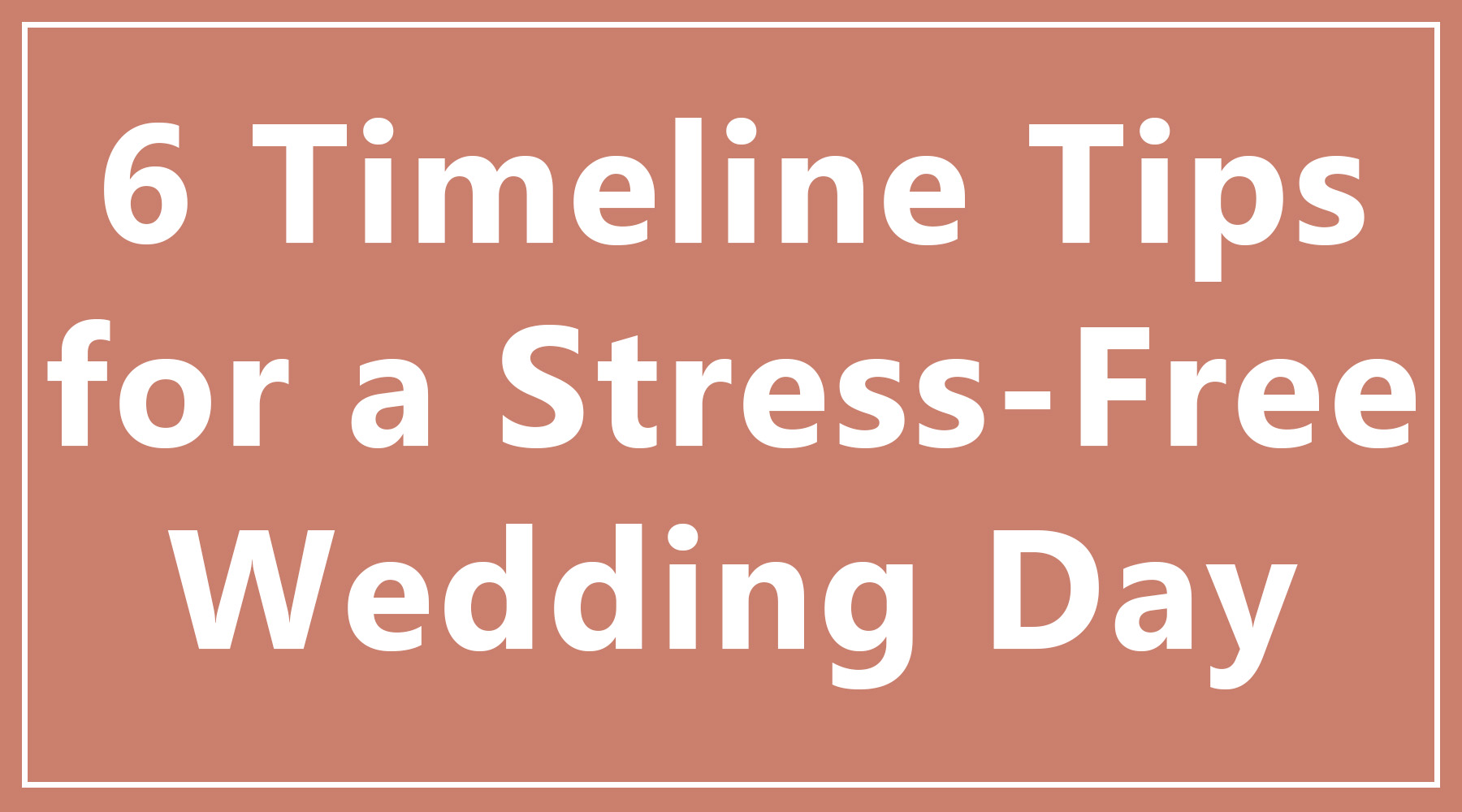 wedding timeline tips